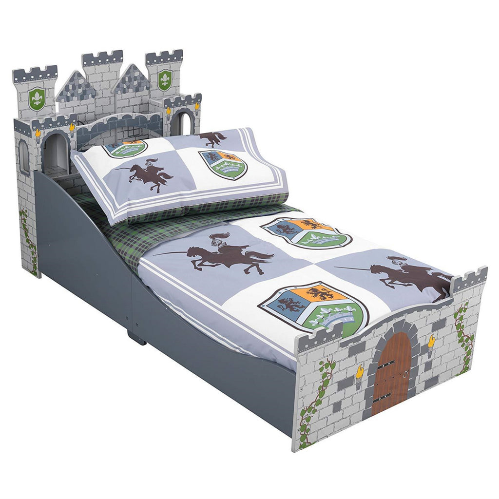KidKraft Knights & Shields Toddler Bedding Duvet and Pillowcase - Maqio