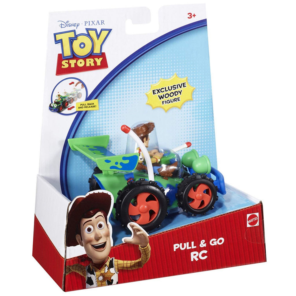 Disney Pixar V0862 Toy Story Pull & Go RC Vehicle with Woody - Maqio