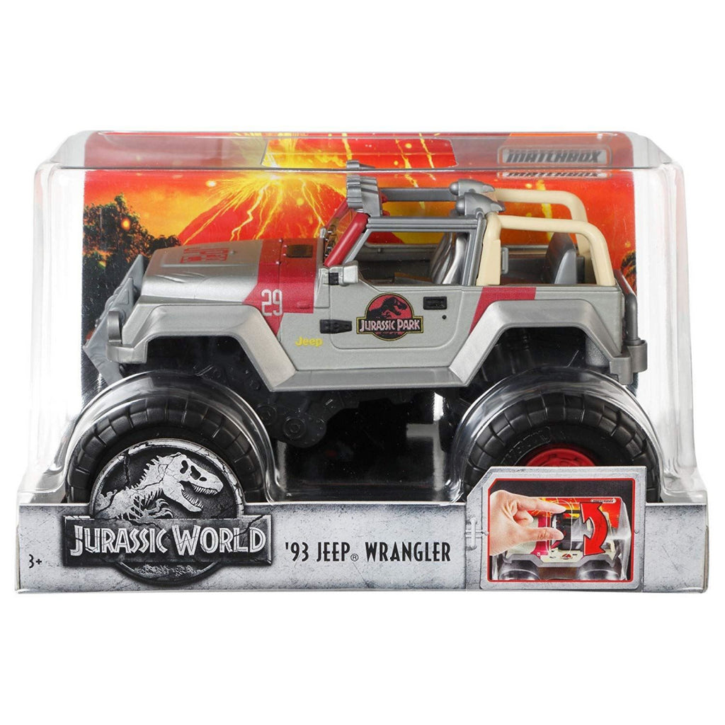 Jurassic World Matchbox 1:24 Scale Trucks -Gold Jeep Wrangler - Maqio