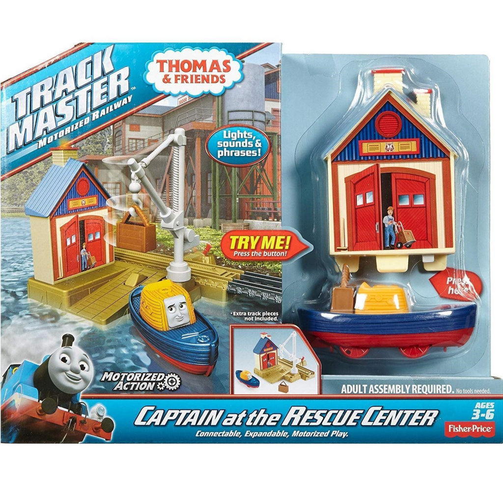 Fisher Price Thomas & Friends Trackmaster - Captain at the Rescue Centre Toy - Maqio