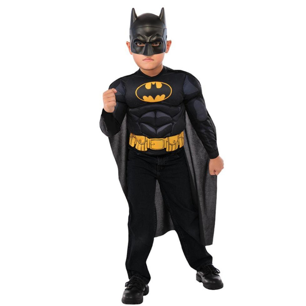 Rubie's 34095 Batman Deluxe Costume Top Set & Mask (Age 4-6 Years) - Maqio