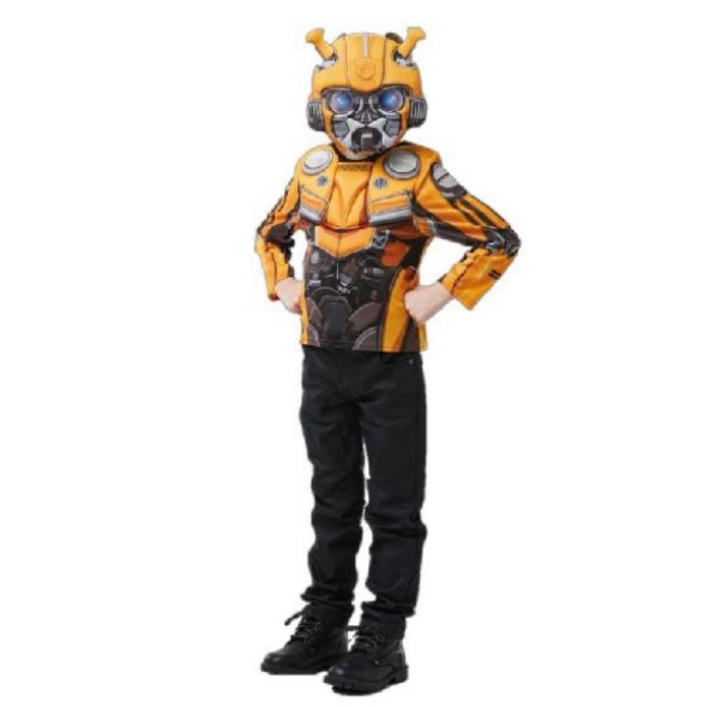 Rubie's Transformers Bumblebee Muscle Chest Top & Mask Costume Set Age 3 - 8 - Maqio