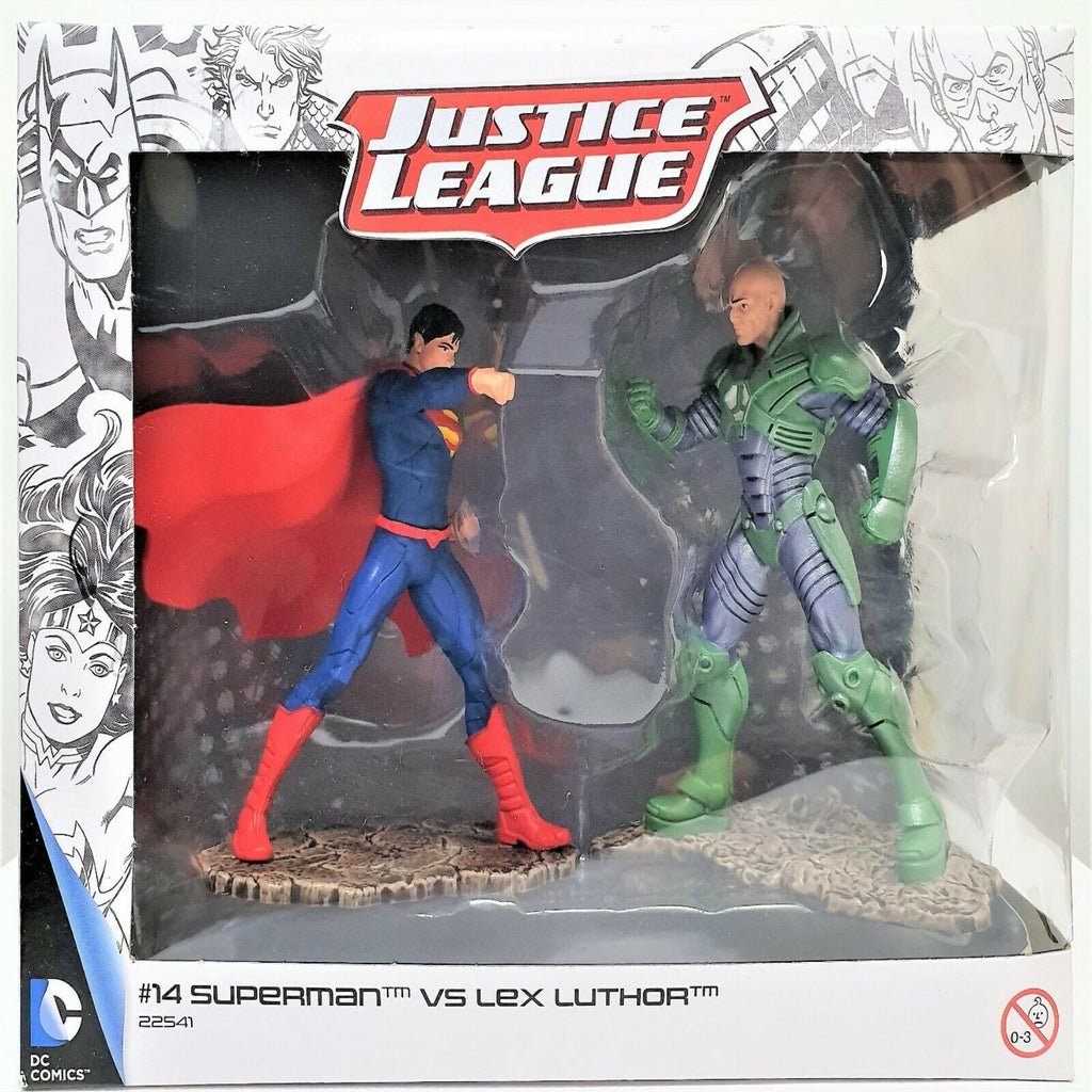 Schleich 22541 Justice League Figure 2 Pack - Superman Vs. Lex Luthor - Maqio