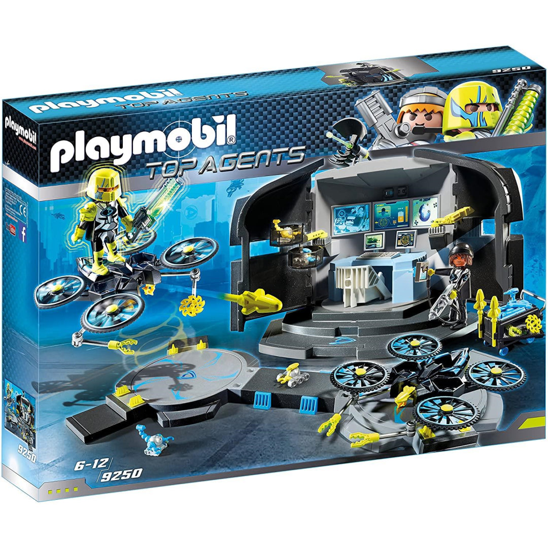 Playmobil 9250 Top Agents Dr. Drone's Command Base Toy Set