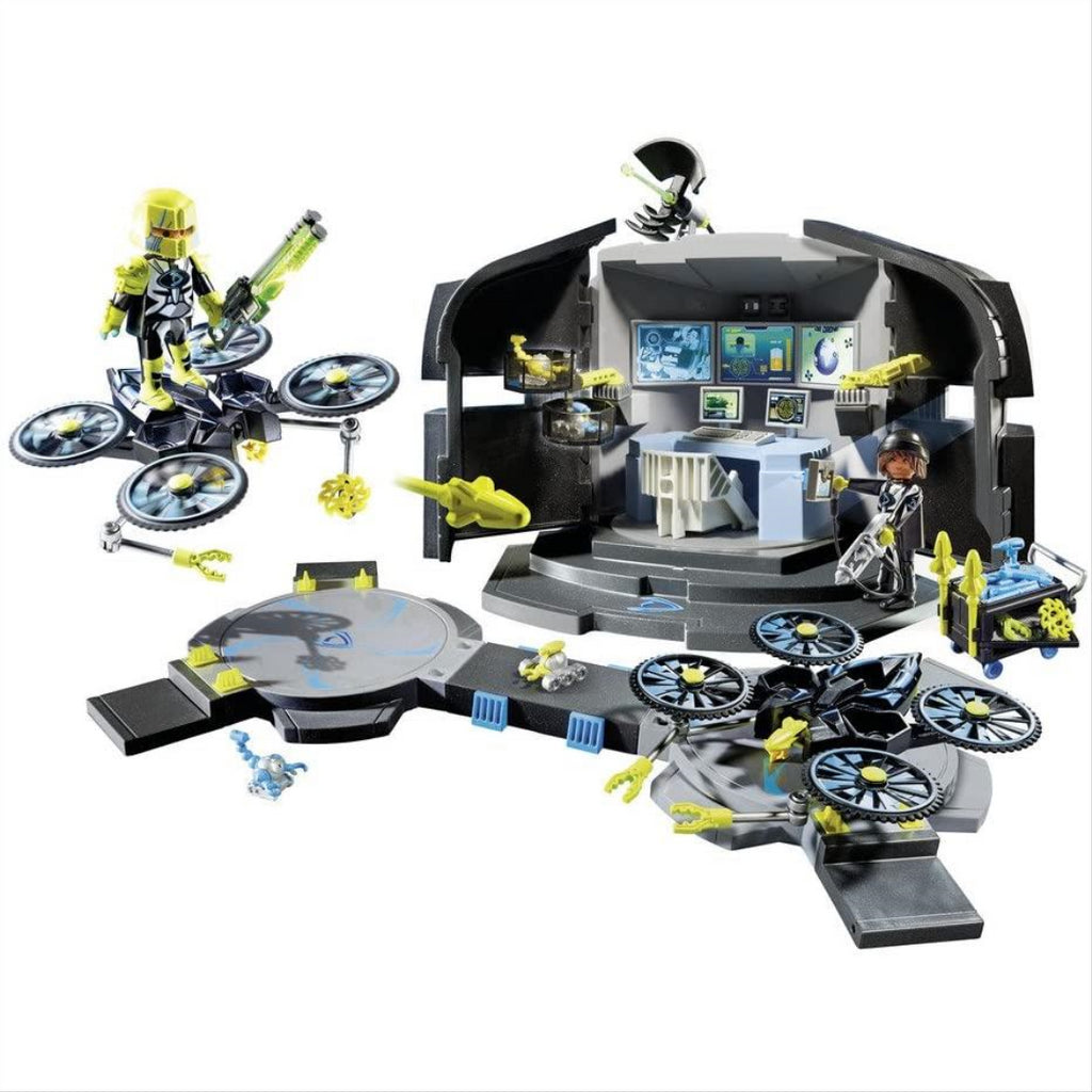 Playmobil 9250 Top Agents Dr. Drone's Command Base Toy Set - Maqio