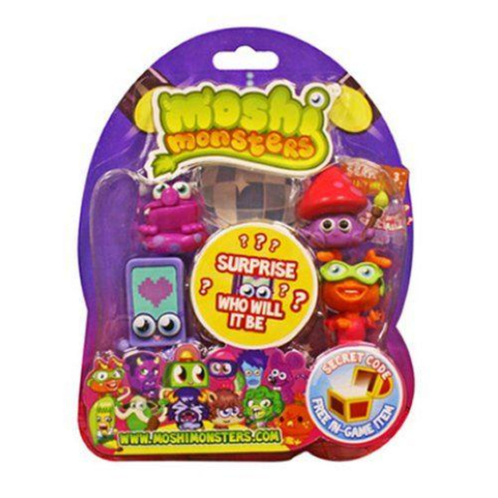 Moshi Monsters 78104 Series 3 Moshling Collectible 5 Figure Pack - Maqio