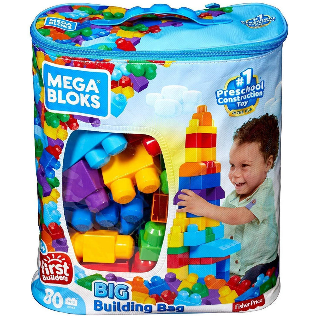 Mega Bloks Classic Big Building Bag - 80 Pieces DCH63 - Maqio