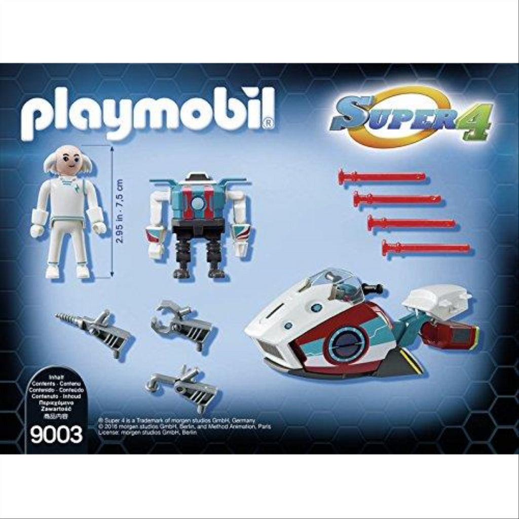 Playmobil 9003 Super 4 Skyjet with Dr. X and Robot - Maqio