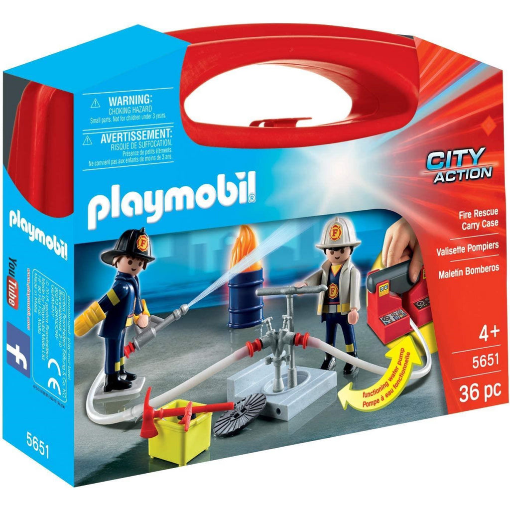Playmobil 5651 City Action Collectable Large Fire Rescue Carry Case - Maqio