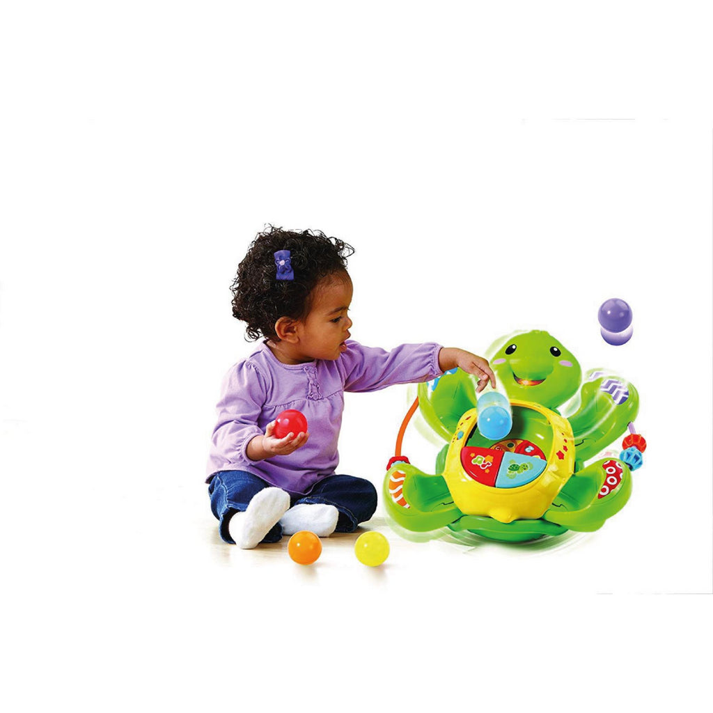 Vtech Baby Rock and Pop Turtle 506103 Electronic Educational Learning Toy - Maqio