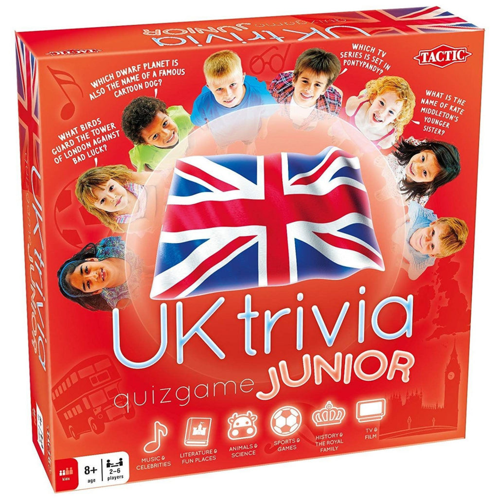 Junior UK Trivia Quiz Board Game - Maqio
