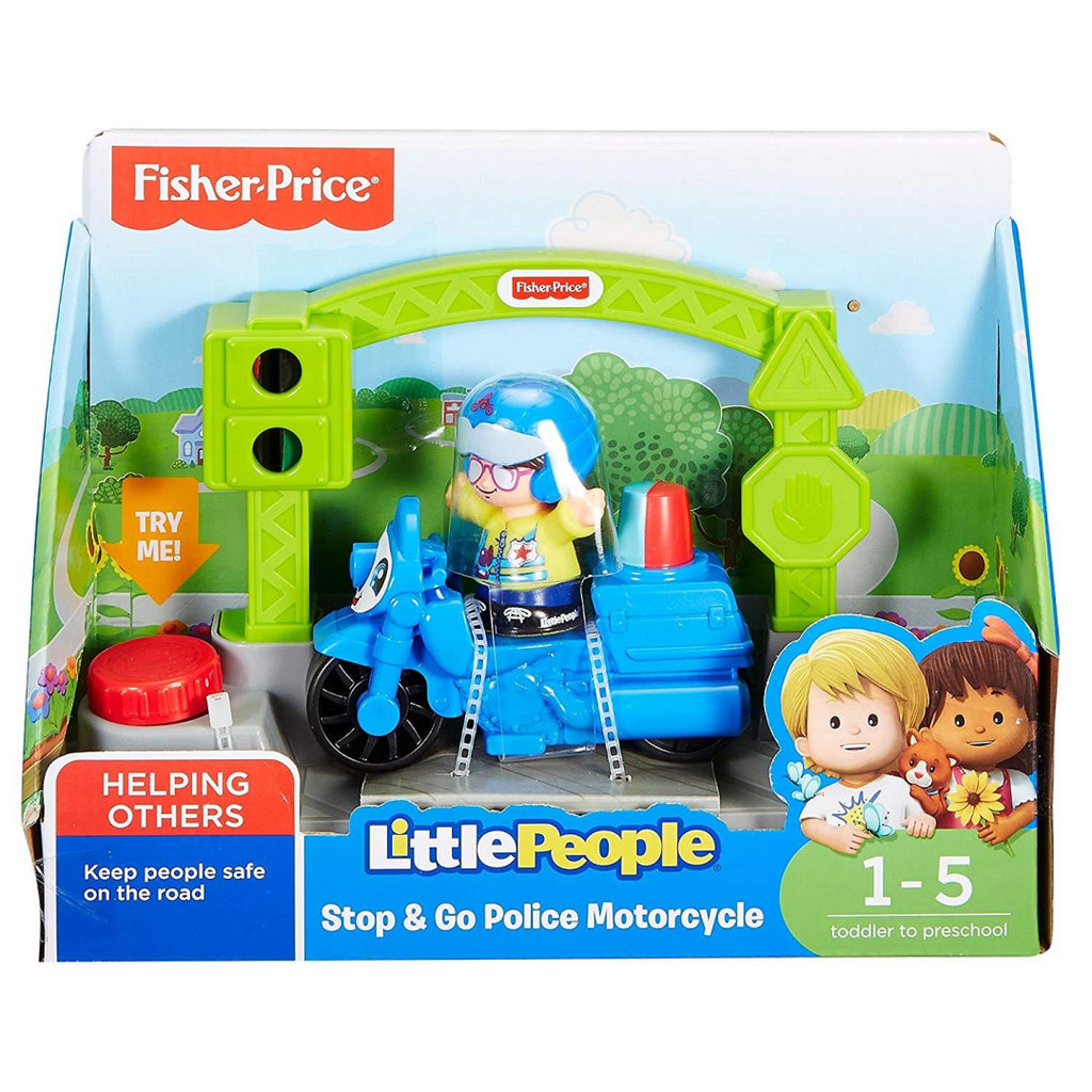 Fisher-Price DYR83 Little People Stop & Go Police Motorcycle - Maqio