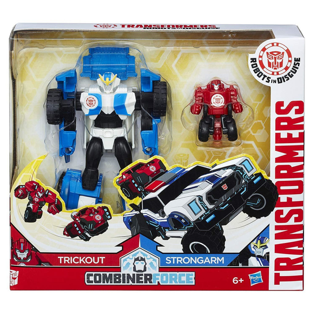 Transformers RID Combiner Force Activator Combiners Strong Arm and Trick Out Fig - Maqio