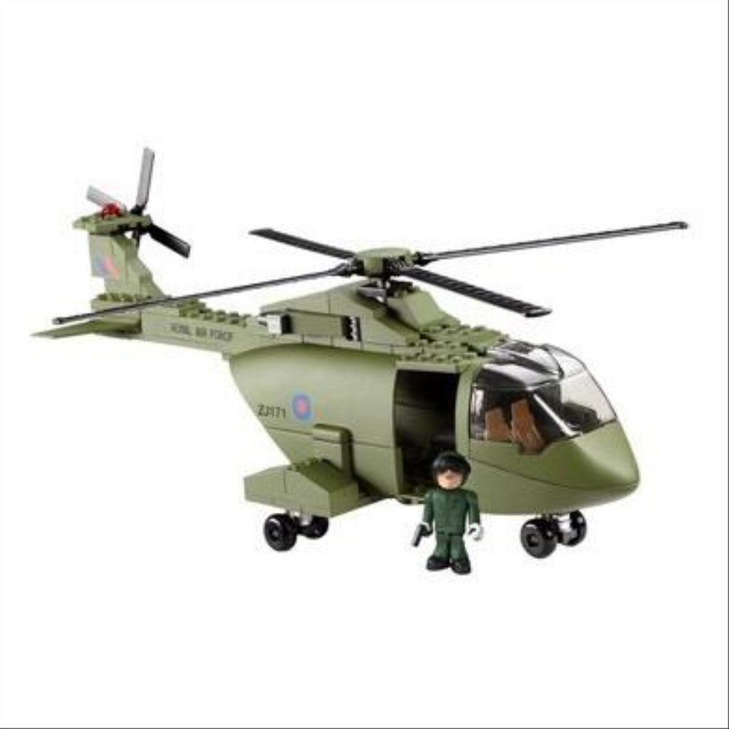 Character Building HM Armed Forces Raf Merlin Helicopter Set - Maqio