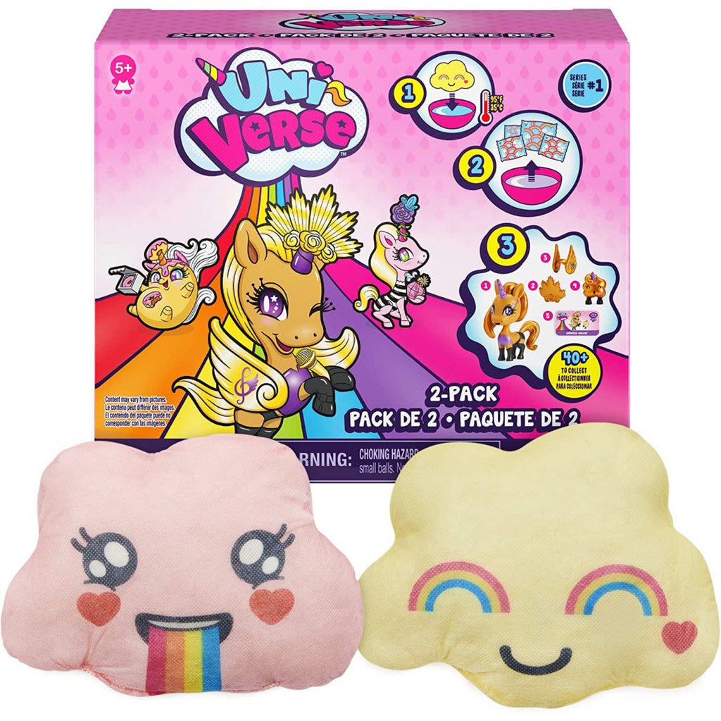 Uni-verse 2 Pack Collectible Surprise Unicorns with Mystery Accessories 6056225 - Maqio