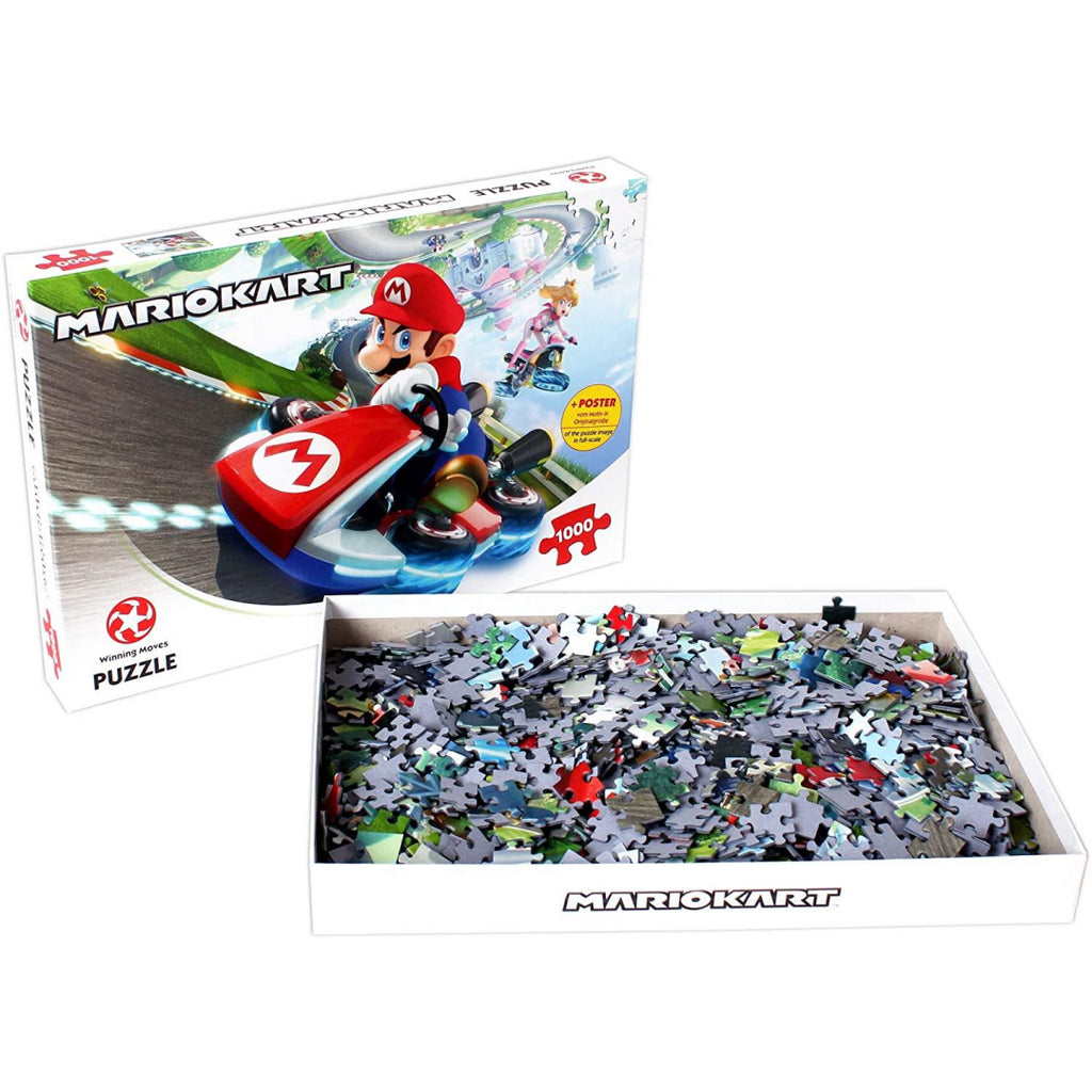 Winning Moves Mario Kart 1000-piece Jigsaw Puzzle - Maqio