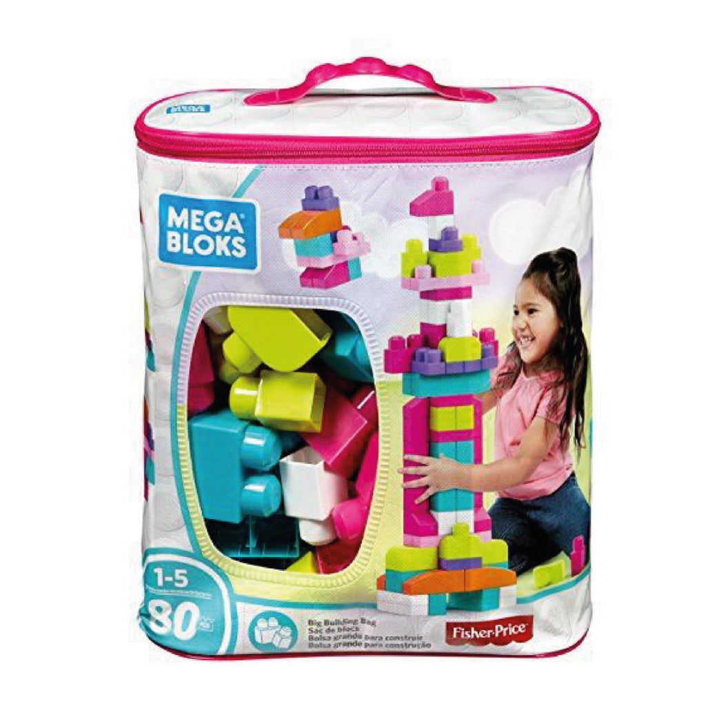 Mega Bloks DCH62 Big Building Bag, Pink - Maqio