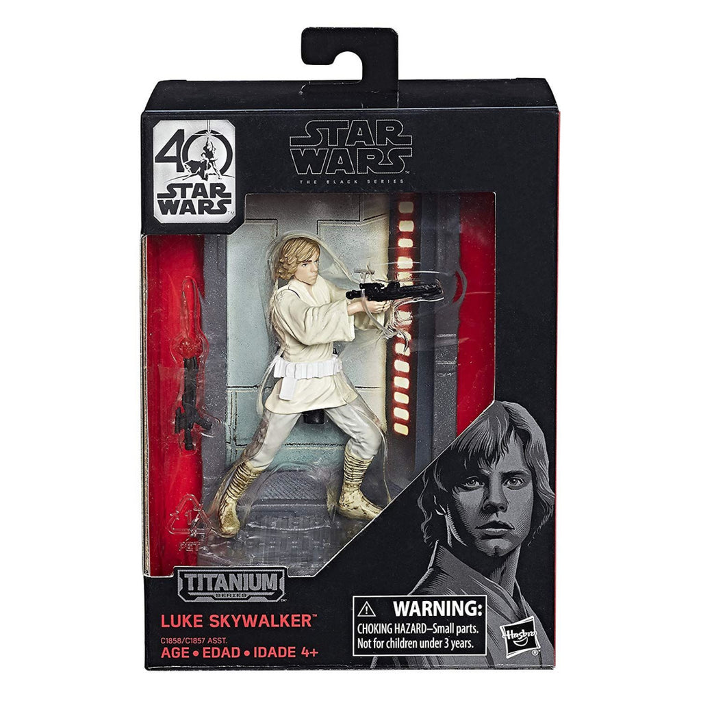 Star Wars The Black Series Titanium Series Luke Skywalker Toy Figure - Maqio