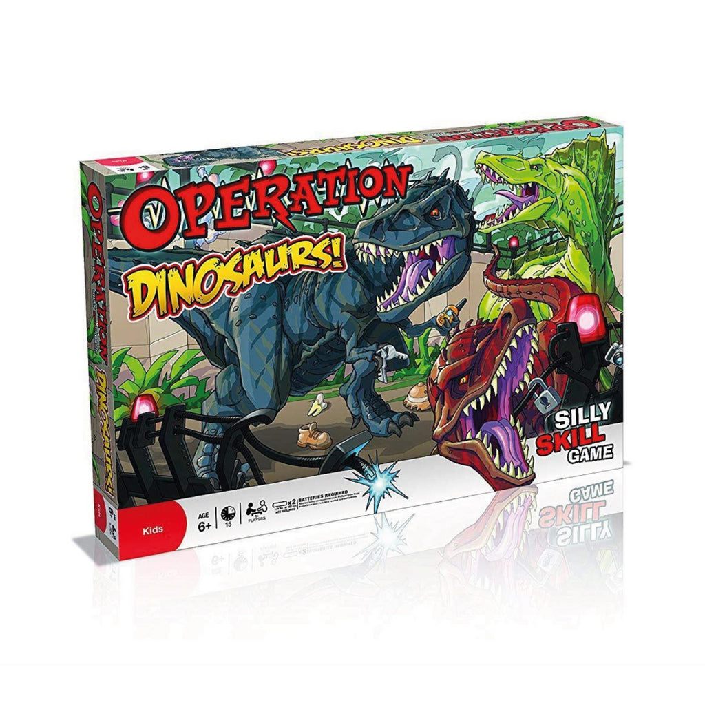 Winning Moves 024273/001636 Dinosaurs Operation Board Game B7643 - Maqio