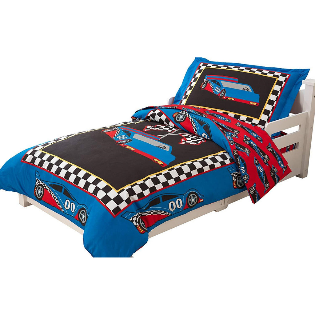 KidKraft Racecar Toddler Bedding Duvet and Pillowcase - Maqio