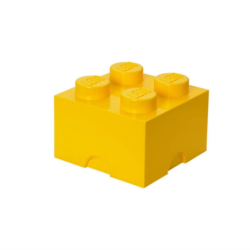 LEGO Brick 4 Knobs Yellow Stackable Storage Box 5.7 Litres - Maqio