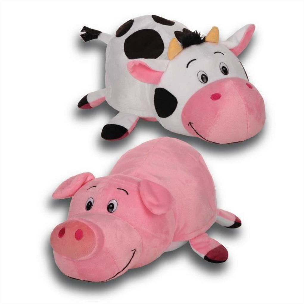Flip a Zoo Ruby Piglet/Sophie Cow 2 in 1 Soft Plush Toy 026248 - Maqio