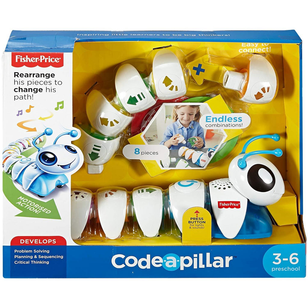 Fisher-Price DKT39 Think and Learn Code-a-Pillar Kids Educational Electronic Pet Toy - Maqio