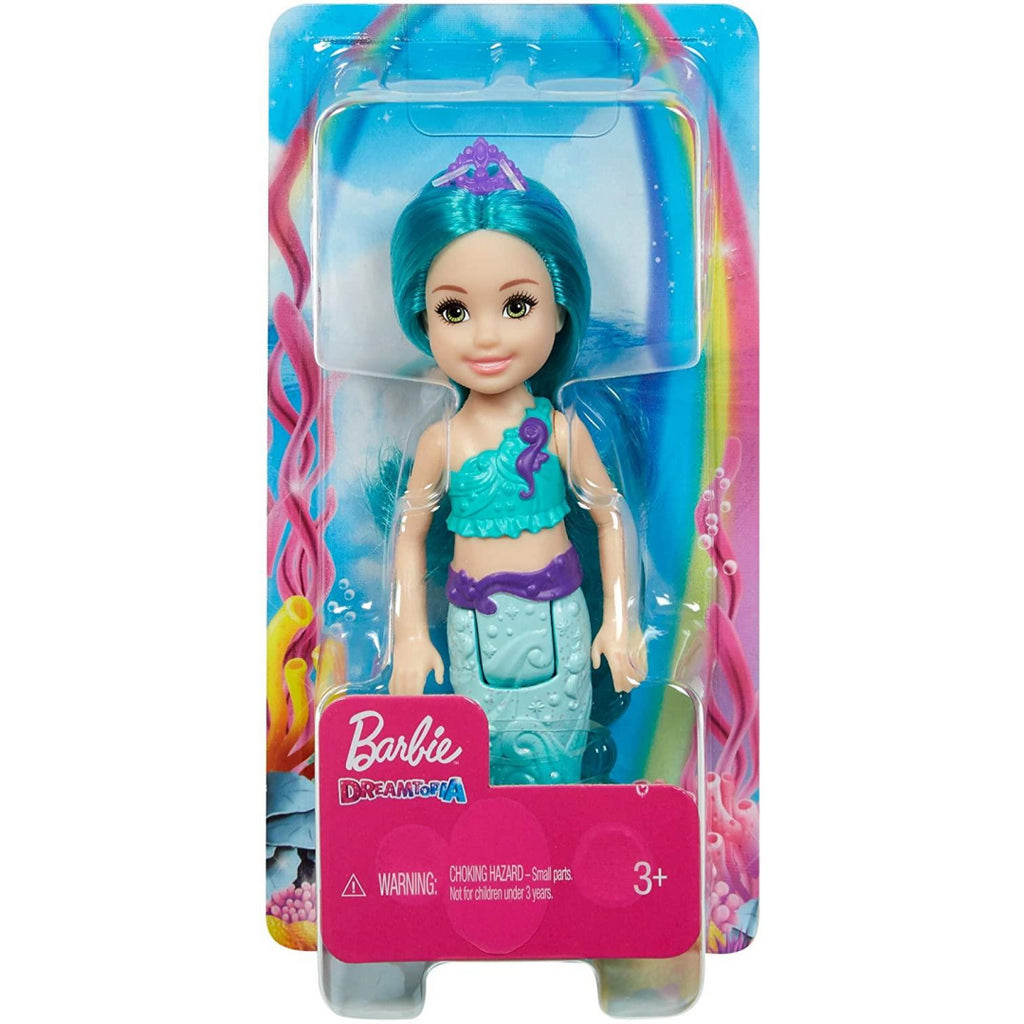 Barbie Dreamtopia Chelsea Mermaid Doll with Turquoise Hair and Tail GJJ89 - Maqio