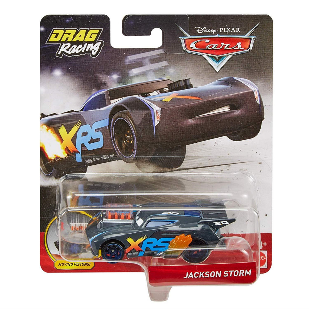 Disney Pixar's Cars XRS Drag Racing Jackson Storm 1:55 Scale Die-cast Vehicle - Maqio