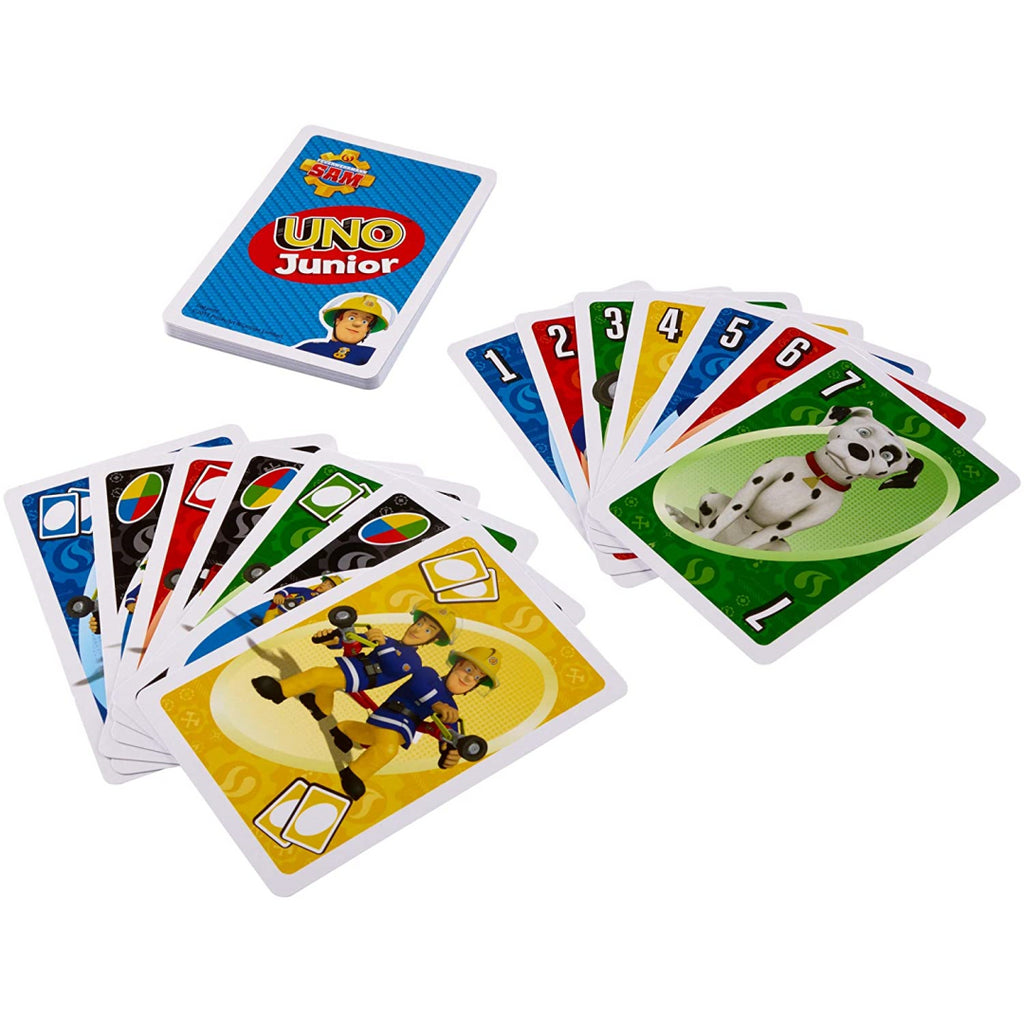 UNO Junior Fireman Sam Card Game Mattel Games FMW18 - Maqio