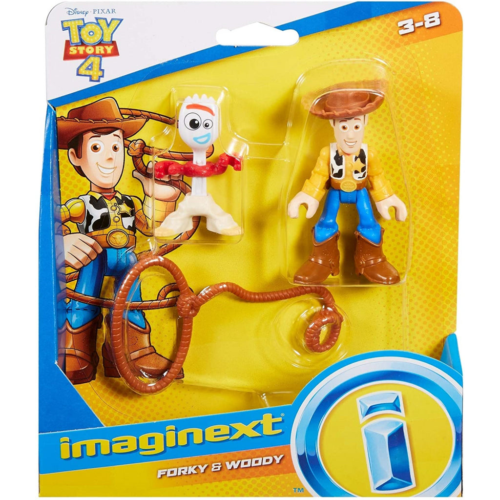 Fisher-Price Imaginext Toy Story 4 Woody & Forky Figures - Maqio