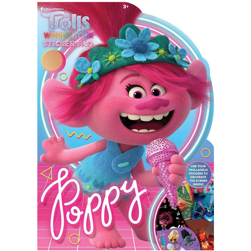 Trolls Movie Shaped Sticker Pad - Maqio