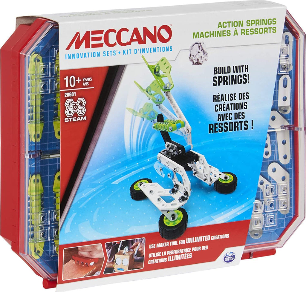 Meccano Action Springs Innovation Set STEAM Building Kit 6053909 - Maqio