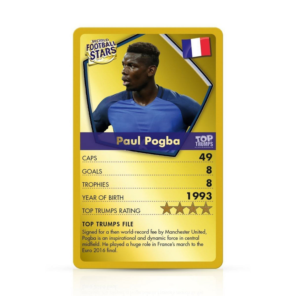 Top Trumps Cards - World Football Stars [GOLD] 032155 - Maqio