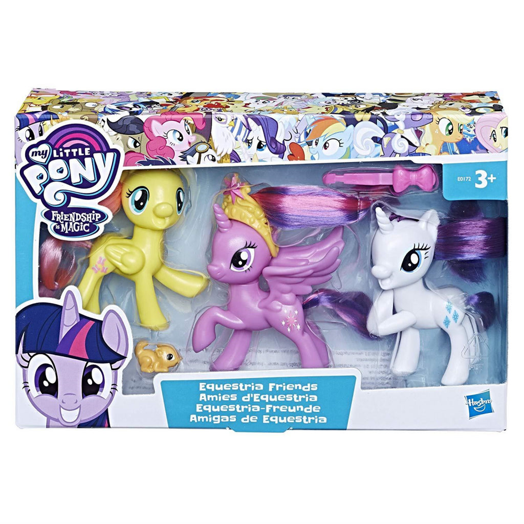My Little Pony Equestria Friends - Twilight Sparkle, Rarity and Fluttershy Figures E0172 - Maqio