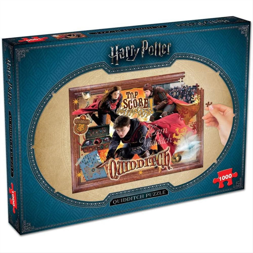 Winning Moves Harry Potter Quidditch 1000-piece Jigsaw Puzzle (02497) - Maqio