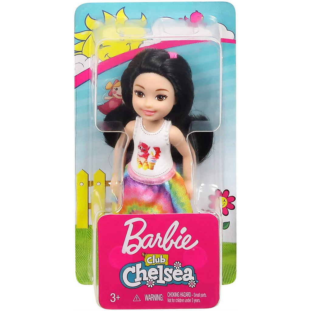 Barbie Club Chelsea Doll Brunette with Kitty Top FXG77 - Maqio