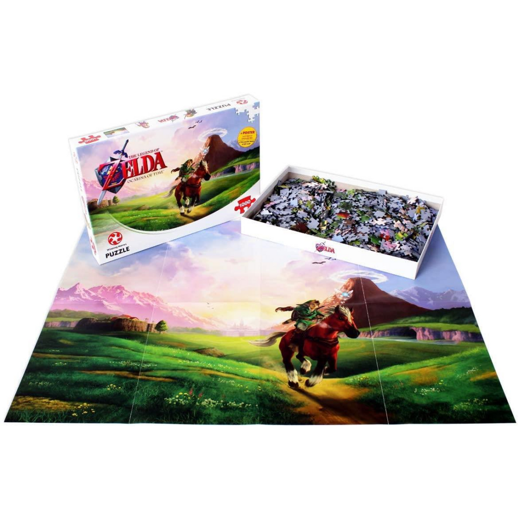 Winning Moves The Legend of Zelda Ocarina of Time 1000-piece Jigsaw Puzzle 29506 - Maqio