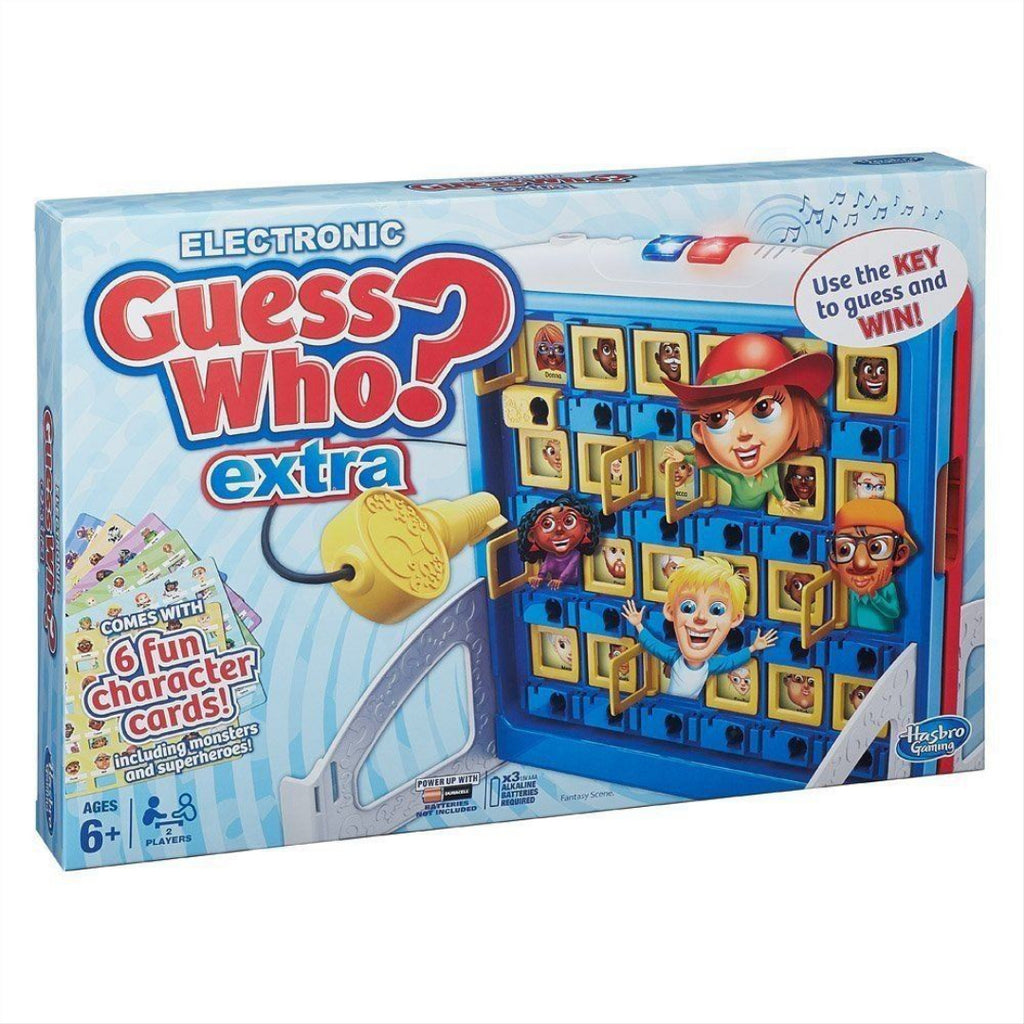 Hasbro B2226 Guess Who Extra? Electronic Board Guessing Game - Maqio