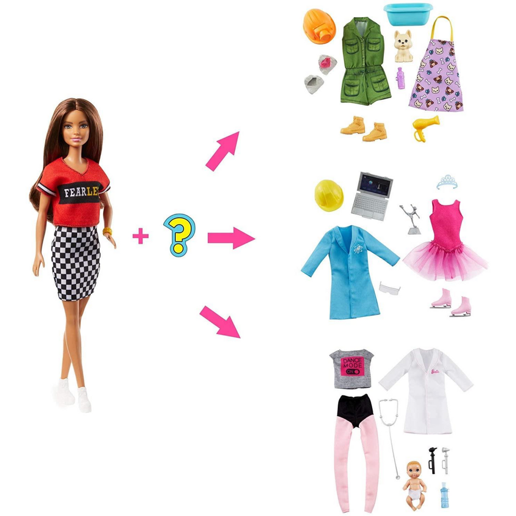 Barbie You Can Be Anything Fashion Doll and 8 Surprise Accessories GLH64 - Maqio