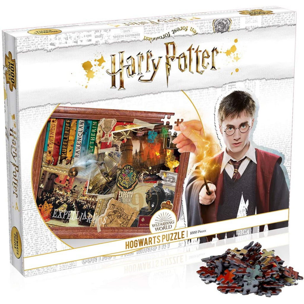 Winning Moves Harry Potter Hogwarts 1000-piece Jigsaw Puzzle (White) - Maqio