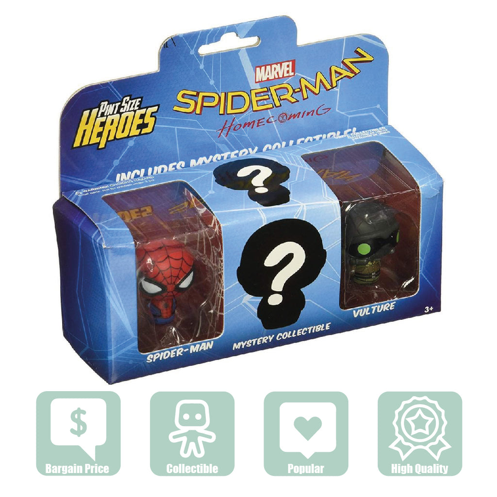 Funko Pint-Size Figures - Spiderman + Vulture + 1 Other (13439) - Maqio
