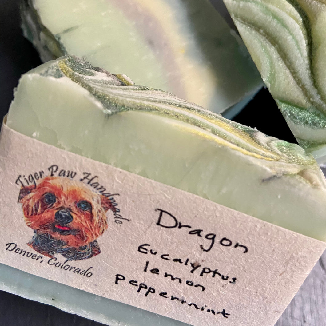 Dragon Handmade Soap- Eucalyptus Lemon Peppermint