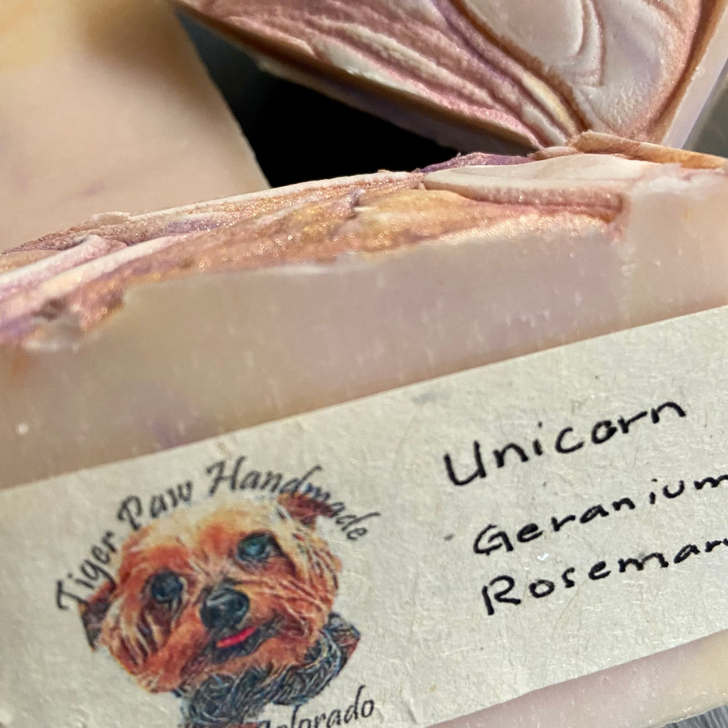 Unicorn Handmade Soap- Geranium Rosemary