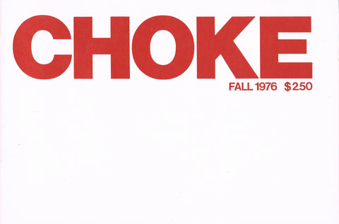 Front cover image-CHOKE Publications Fall 1976