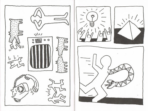 Detail image-Keith Haring-Coloring Book