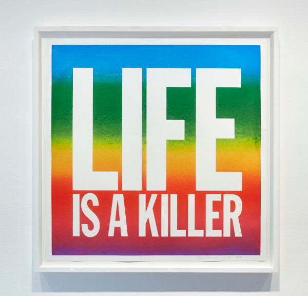 John Giorno-Life is a killer-Print-Framed