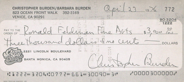 Front image cover-Chris Burden Full Financial Disclosure
