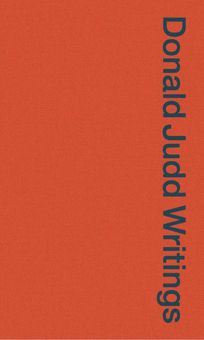 Cover image of Donald Judd Writings