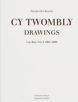 Front cover image-Cy Twombly Cat Ras Drawings vol 4